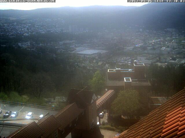 unser Hotel über den Dächern der Stadt