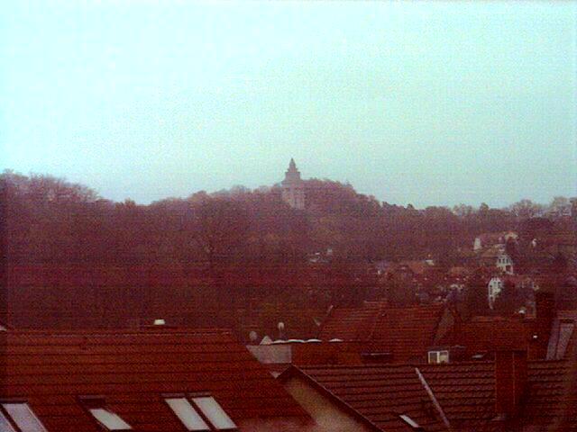 Blick vom Spohien Hotel auf die Wartburg
